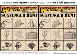 Easy Halloween Scavenger Hunt Clues by Bnute Productions Free Printable World Explorer Indiana Jones