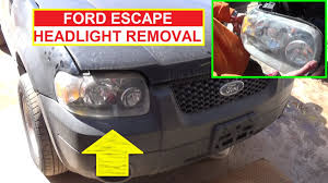 how to remove and replace the headlight on ford escape 2001 2002