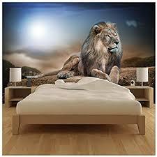 azutura majestätischer löwe fototapete safari tier tapete kinder schlafzimmer haus dekor erhältlich in 8 größen mittel digital