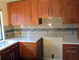 kitchen backsplash subway tile glass subway tile cabinets mixed