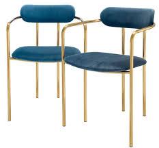 casa padrino luxus esszimmerstühle mit armlehnen blau gold 53 x 50 x h 74 cm küchenstühle mit edlem samtstoff esszimmer set esszimmer möbel