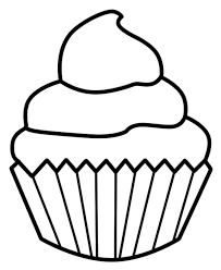 Cupcake black and white cupcake outline clipart black and white 3