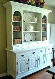Ikea China Storage White Cabinet Hutch Dining Room Cabinets Big Vintage Kitchen In