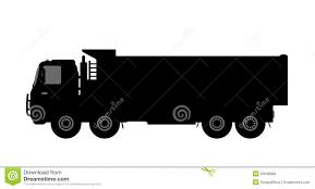 Silhouette Dump Truck White Background Stock Illustrations – 256 ...