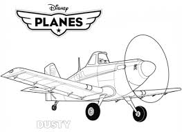 Click To See Printable Version Of Disney Planes Dusty Coloring Page