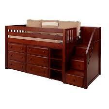 Low Loft Bed With Desk And Dresser by Great
