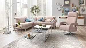 interliving sofa serie 4101 eckkombination 8882 rosa bezug vintage metallfüße stellfläche ca 221 x 283 cm