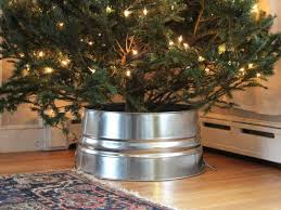 Christmas Tree Watering Device Homemade by Diy Galvanized Christmas Tree Collar Hack Diy Network Blog Made