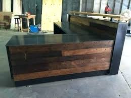 Architecture Wood Reception Desk Amusing Rustic Throughout Prepare 11 Black And White Best Kitchen Hoods Medicine