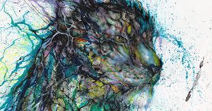 Splattered Ink Animal Portraits By Chinese Artist Hua Tunan