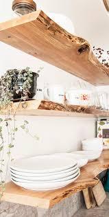 kitchen floating live edge shelves shelf brackets floating
