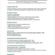 Sample Resume For Fresh Graduate Management