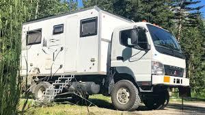 100 4x4 Box Truck EXPEDITION VEHICLE TOUR Mitsubishi Fuso FG140 Camper YouTube