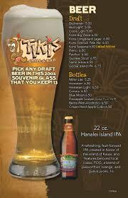 Drink Menu Tiki s Grill