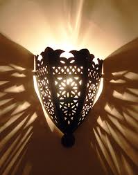 rustic look moroccan wall light moroccan bazaar
