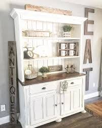 Farmhouse Kitchen Bakers Hutch Rustic Country China Cabinet