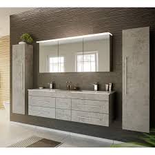 badezimmer spiegelschrank 140cm newland 02 inkl led acrylle leuchtboden beton optik b h t 140 63 5 17 22 cm
