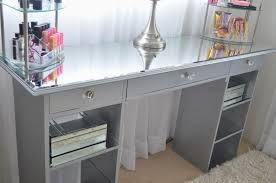 Hayworth Mirrored Dresser Silver by Furniture Hayworth Vanity With Mirror And Lights For Makeup Room