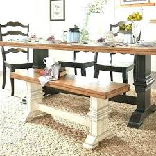 Round Dining Table With Bench Seating Room Seat Save The Ideas Covers Farmhouse And Chairs