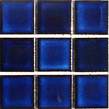 cobalt blue pool tile porcelain mosaics 2 inch by 2 inch mosaics