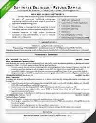 Sample Resume Software Developer Resumes For A Engineer Fresher