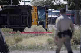 Police: Car Driver Ran Red Light In Vegas School Bus Crash - Games ...
