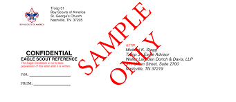 Free Eagle Scout Letter of Re mendation Template Examples PDF