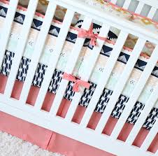 Coral And Navy Baby Bedding by Arizona Baby Bedding Coral And Navy Bedding Set Crib