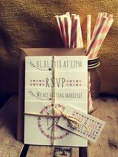 Personalised Wedding Invitations Vintage Day Or Evening Rustic Photo Set