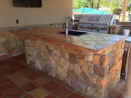 Antique Terra Cotta Tile Featured On The Diy Network Show I by Terra Cotta Saltillo Tile Used As Counter Top Application And