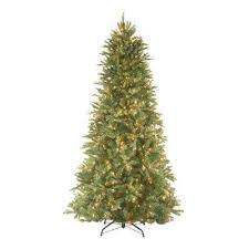 9 Ft Feel Real Tiffany Fir Slim Hinged Artificial Christmas Tree With 800 Clear Lights