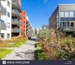 100 Apartments In Gothenburg Sweden Apartment Buildings Eriksberg Stock Photo