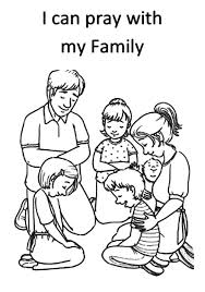 I Can Pray With My Joint Family Nursery Lesson Coloring Pages