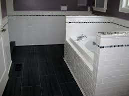 bathroom simple and small white black combination marble flooring