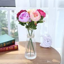 2018 Single Rose Artificial Flowers Flower Arrangement Decorative