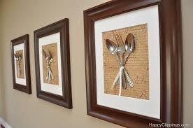 DIY Silverware Wall Art Kitchen Decor Diy