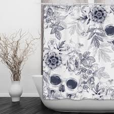 Black And White Flower Shower Curtain by Shower Curtains Bath Mats U0026 Towels Ink And Rags