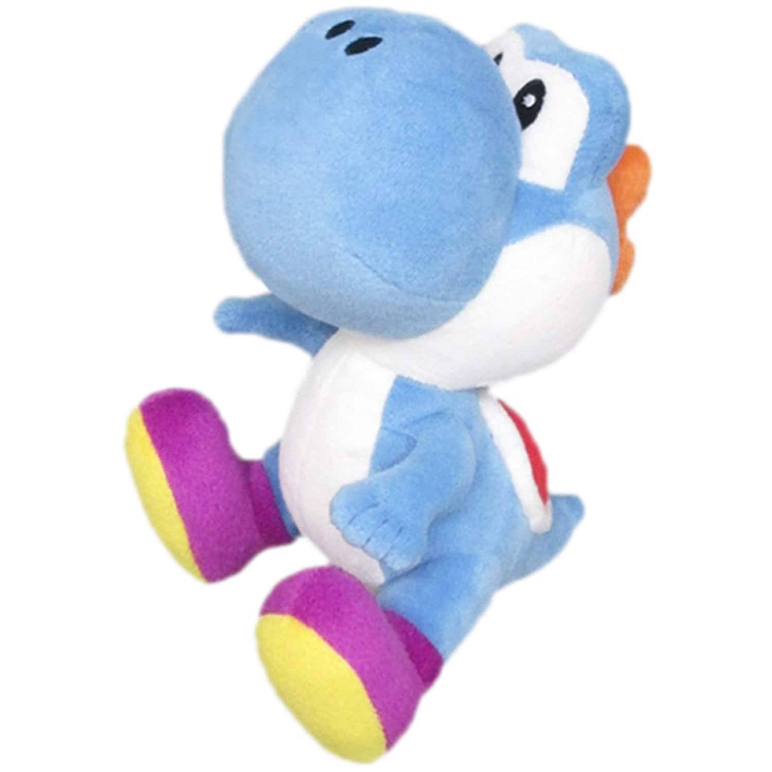 Little Buddy Super Mario Bros Plush Toy - Yoshi, Dark Blue, 15cm