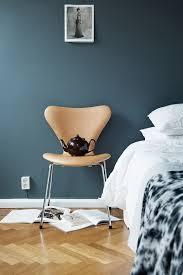 slaapkamer wand petrol aqua skandinavisches haus