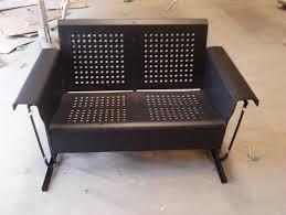 Patio Furniture Loveseat Glider by Powdercoated Restored Vintage Metal Patio Gliders Vintage Metal