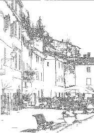 Italophile Coloring Pages Italian Village