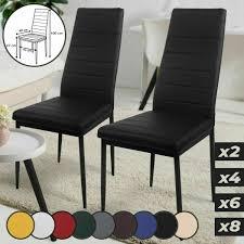 moderne stühle esszimmer küche lounge kunstleder beschichtet