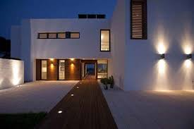 Digi Home Modern Outdoor Lighting Fixtures Simple White Wonderful Ideas Path Wooden Brown Floor