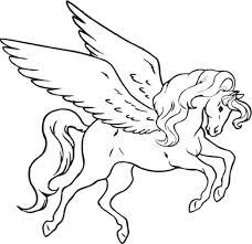 Printable Unicorn Coloring Pages Pegasus Online Head