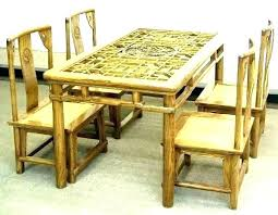 Bamboo Dining Chairs Set Room Table