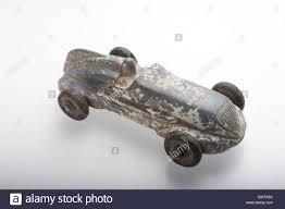 100 Antique Metal Toy Trucks Cast White Metal Toy Racing Car White Stock Photo
