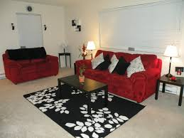 red and black living room decorating ideas of well red black and
