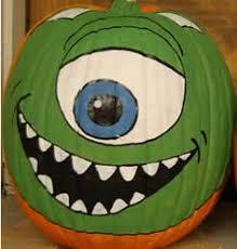 Monsters Inc Mike Wazowski Pumpkin Carving by My Pumpkins Pumpkin Ideas Halloween Painting Paint Pumpkins