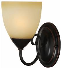 rubbed bronze 1 light wall sconce bathroom fixture