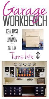 Ikea Linnmon Corner Desk Hack by Garage Workbench Diy How We Ikea Hacked Garage Storage